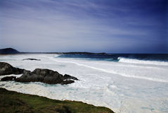 Sea and Coast. Strong storm on the coast of galicia Stock Photography