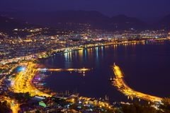 Sea coast of Alanya, Turkey. stock photo