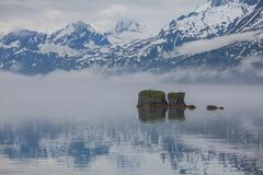 Sea coast on Alaska Royalty Free Stock Photos