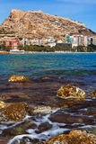 Sea coast in Alicante, Spain Royalty Free Stock Image