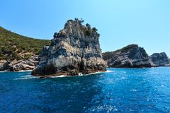 Palmaria island, La Spezia, Italy. Beautiful rocky sea coast of Palmaria island near Portovenere (Gulf of Poets, Cinque Terre National Park, La Spezia stock image