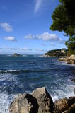 Sea and coast in Bandol, France Royalty Free Stock Photo