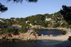Sea and coast in Bandol, France Royalty Free Stock Image