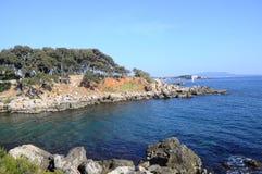 Sea and coast in Bandol, France Stock Photos