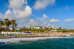 Sea coast beach in Alanya, Turkey. Beautiful summer landscape Stock Image
