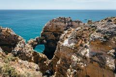 Beautiful sea coast. Sea coast and beautiful beach royalty free stock image