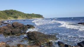 Sea coast, big stines Royalty Free Stock Photography