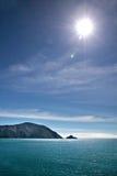 Sea coast with blue sky Royalty Free Stock Photo