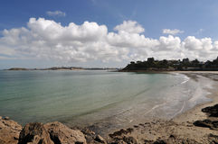 Sea and Coast of Dinard city Royalty Free Stock Image