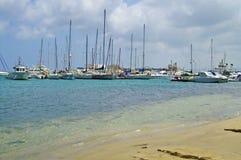 Sea coast and boats in Bizerte, Tunisia Royalty Free Stock Photos