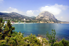 Sea coast in Crimea. Kind on sea coast in Crimea stock photography