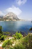 Sea coast in Crimea Stock Image