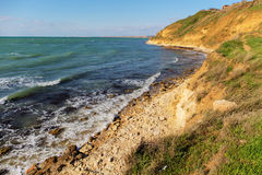 Sea coast in the Crimea. Landscape on the Black Sea coast in the Crimea stock image