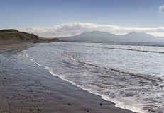 Sea coast at Dinas Dinlle in Gwynedd Stock Images