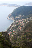 Sea coast at Eze, France. Stock Photos