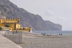 Sea-coast in Funchal Royalty Free Stock Photo