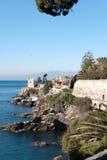 Sea on the coast of Genoa Stock Image
