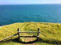 Sea, Coast, Grass, Horizon stock images