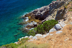 Sea coast in Greece Royalty Free Stock Photography