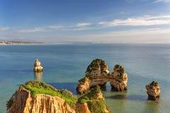 Sea coast of Lagos. Algarve. Stock Image