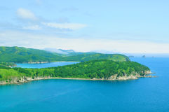 Sea coast landscape of Far East Marine Reserve in Hasan Royalty Free Stock Photography
