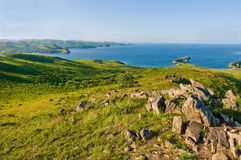 Sea coast landscape of Far East Marine Reserve in Hasan Royalty Free Stock Images