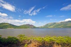 Sea coast landscape in Hong Kong Stock Image