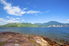 Sea coast landscape in Hong Kong Stock Images