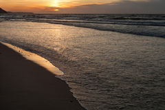 Sea coast landscape. Sunset beach Royalty Free Stock Photos