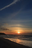 Sea coast landscape. Sunset beach Royalty Free Stock Images