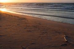 Sea coast landscape. Sunset beach Royalty Free Stock Photo