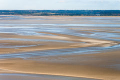 Sea coast at low tide, Saint Michael`s, France Stock Photo