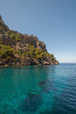 Sea at coast of Mallorca Balearic islands Royalty Free Stock Photos