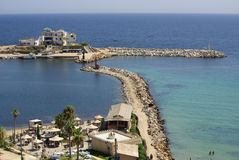 Sea coast in Monastir, Tunisia in Africa Stock Photo