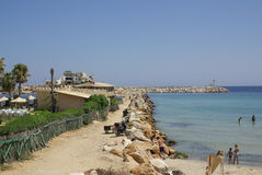 Sea coast in Monastir, Tunisia in Africa Royalty Free Stock Image