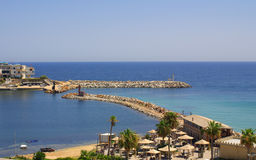 Sea coast in Monastir, Tunisia in Africa Stock Image