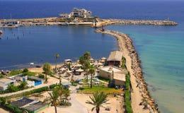 Sea coast in Monastir, Tunisia in Africa Royalty Free Stock Photos