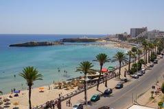 Sea coast in Monastir, Tunisia in Africa Royalty Free Stock Image