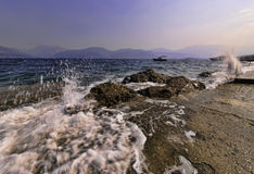 Sea coast of Montenegro, Adriatic sea Royalty Free Stock Photography