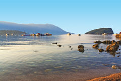 The sea on the coast of Montenegro Stock Images