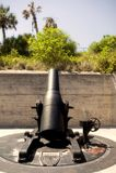 Sea Coast Mortar, Fort De Soto, Florida. 12 inch Sea Coast Mortar, Model 1890-M1.  On display at Fort De Soto Florida.  Installed to defend the Harbor of Tampa Royalty Free Stock Image