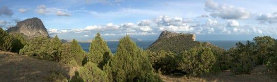Sea coast with mountains Stock Photo