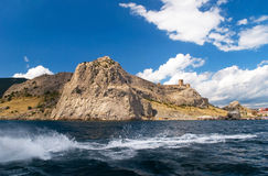 Sea coast with mountains Royalty Free Stock Photography