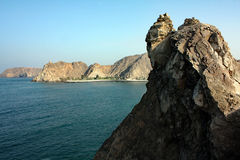 The Sea Coast #5: Mutrah, Muskat, Oman. The coastline, along which Mutrah habour is located, is a very mountainous region offering spectacular views of the Royalty Free Stock Photography