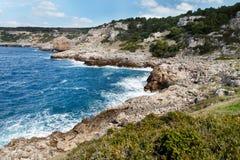 Sea coast in the National Park Porto Selaggio, Puglia, Italy. Sea coast  in the National Park Porto Selaggio, Puglia, Italy Stock Photography