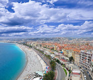 Sea coast of Nice. Royalty Free Stock Image