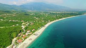 Sea coast on olympic riviera. Greece stock video footage