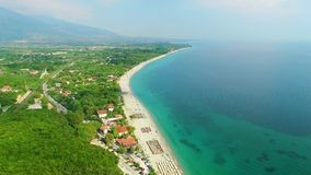 Sea coast on olympic riviera. Greece stock footage