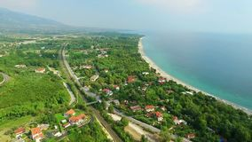 Sea coast on olympic riviera. Greece stock video