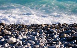 Sea coast with pebbles Royalty Free Stock Photos